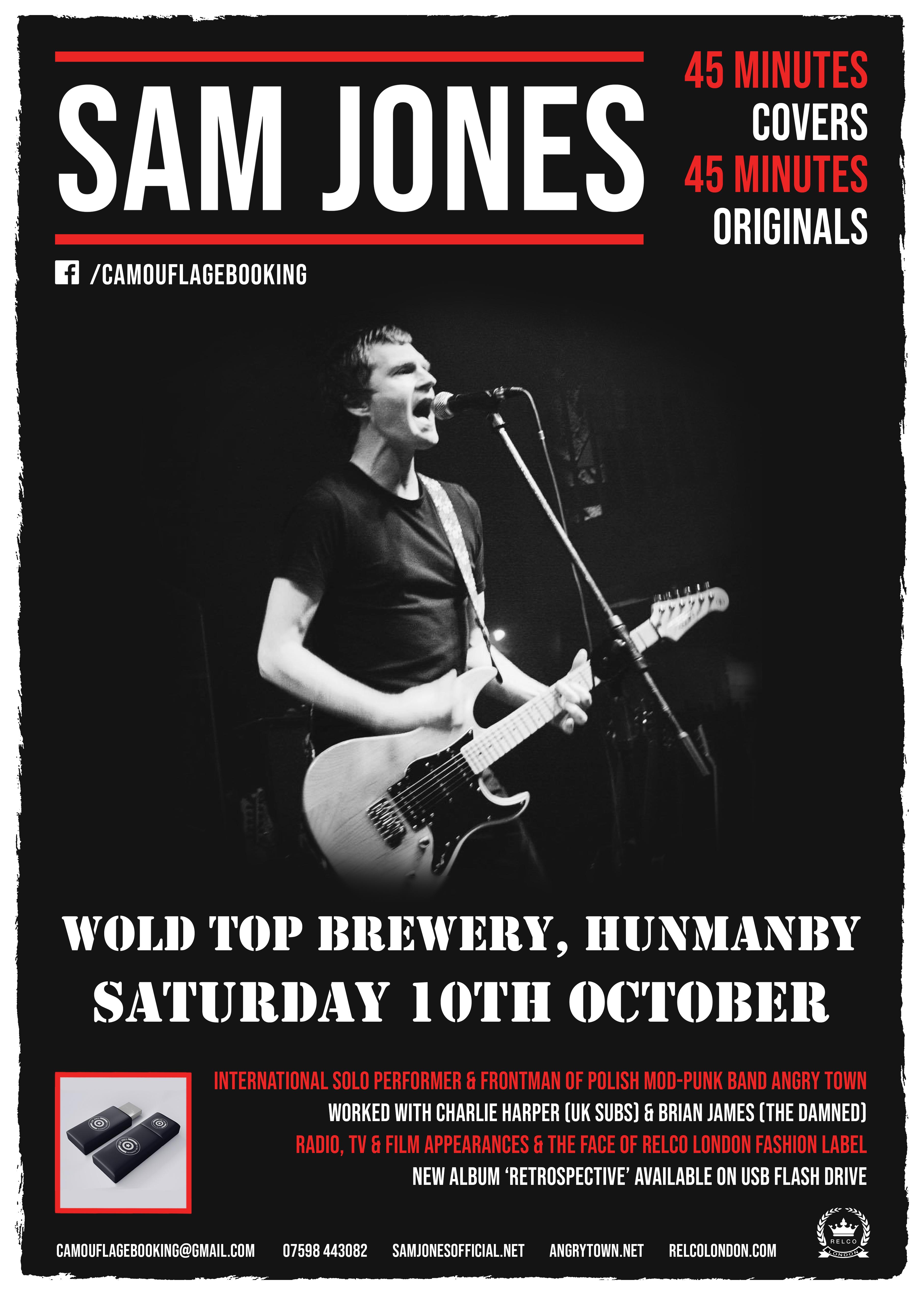 SAM JONES | OFFICIAL WEBSITE focused on the solo ...